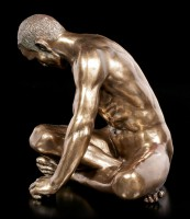 Male Nude Figurine - Turning to the Side