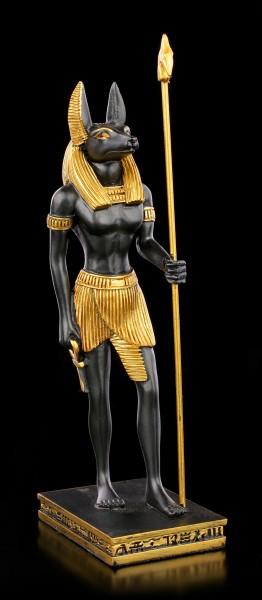Ägyptische Figur - Anubis mit Was-Zepter