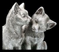 Katzen Figur - Pärchen beim Schmusen