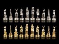 Zinn Schachfiguren Set - Altes Ägypten