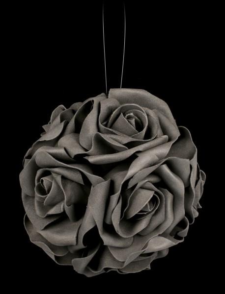 Schwarze Rosenblüten-Kugel