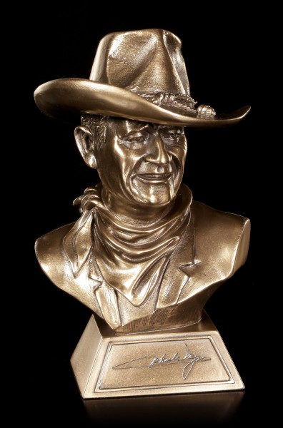 Small John Wayne Bust with Certificate