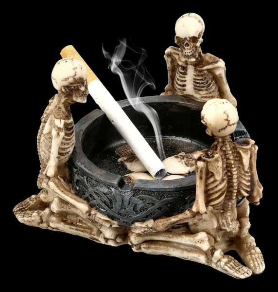 Ashtray with Skeletons