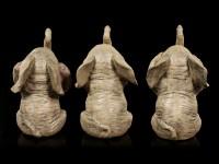 Elephant Figurines Set of 3 - No Evil
