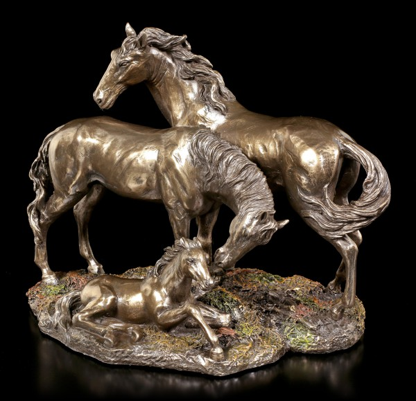Pferde Figuren - Mustang, Stute & Fohlen