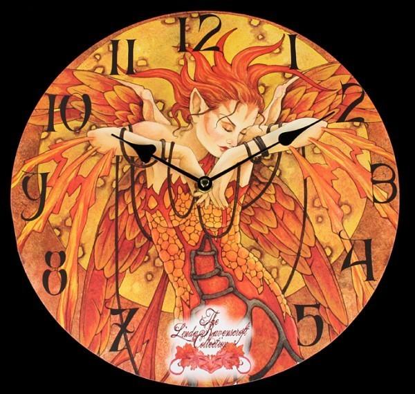 Elfen Wanduhr - Phoenix Rising
