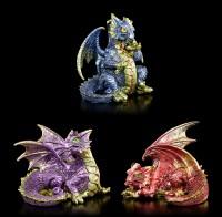 Drachen Figuren 3er Set - Fierce Friends