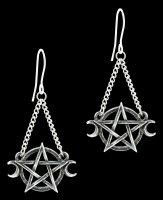 Alchemy Gothic Earrings - Pentagram Goddess