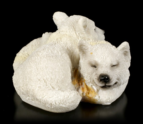 Young Polar Wolf Figurine