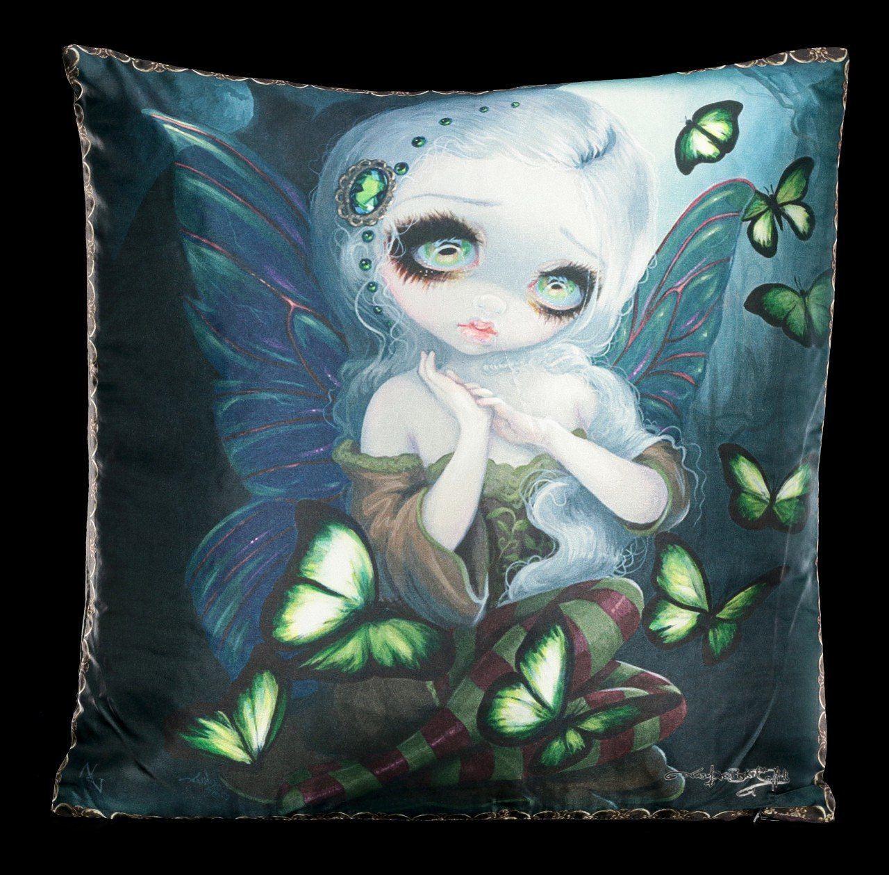 Kissen mit Elfe - Absinthe Butterflies