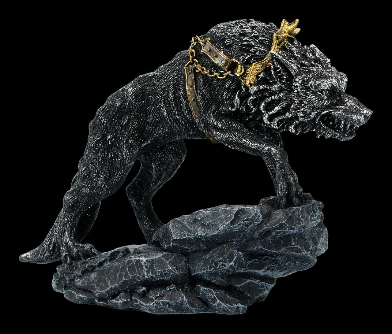 Germanische Fenris Wolf Figur - Fenrir in Ketten