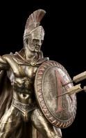 Leonidas I. Figur mit Schild und Speer