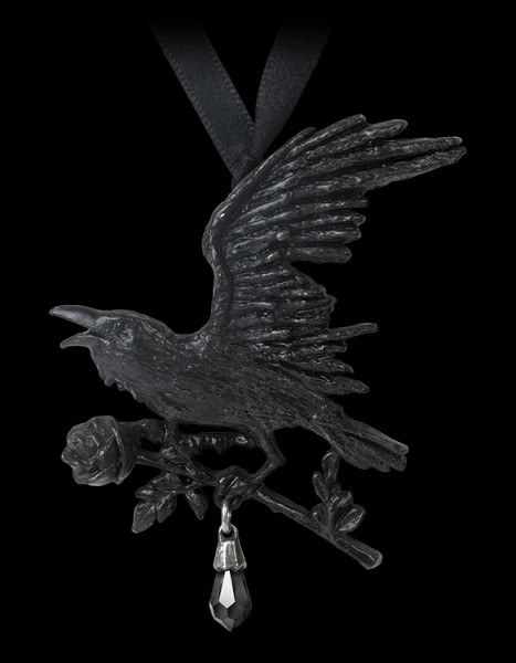 Harbinger - Alchemy Gothic Necklace with Raven