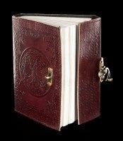 Leder Notizbuch mit Schloss - Tree of Life