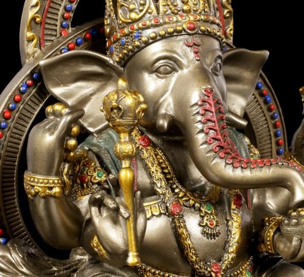 Buddha Figur - Ganesha auf Lotus Thron