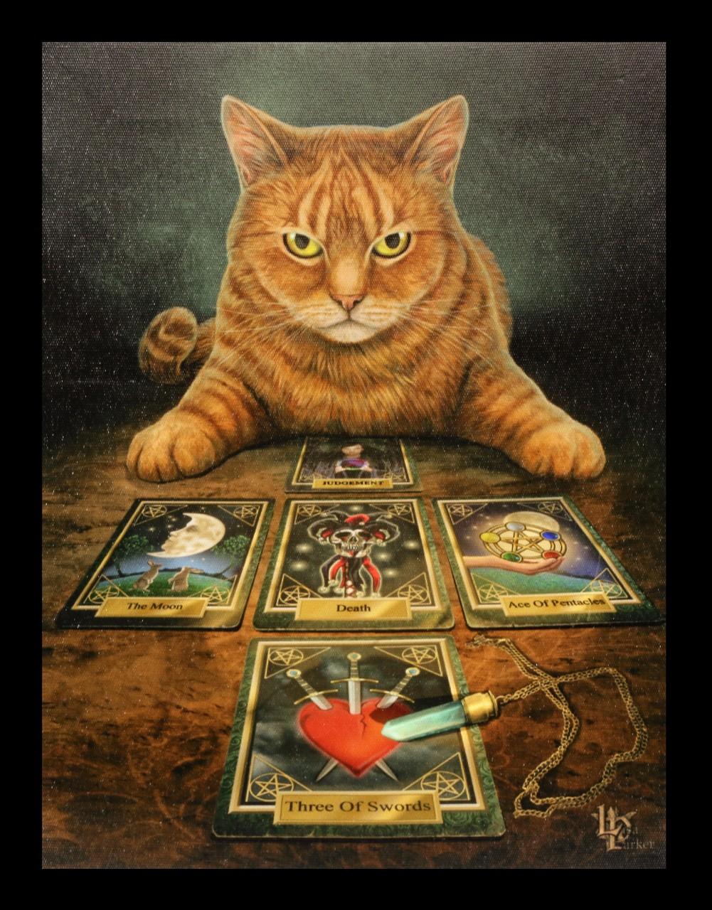 Kleine Leinwand Katze - The Reader by Lisa Parker