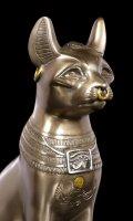 Bastet Figur - Göttin der Fruchtbarkeit - bronziert
