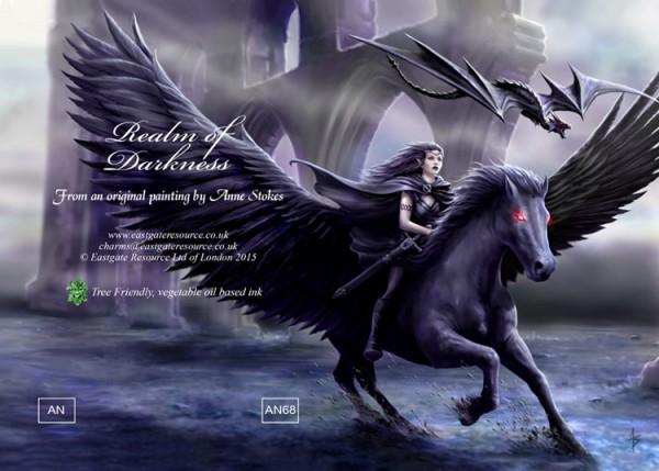 Gothic Grußkarte Pegasus - Realm Of Darkness
