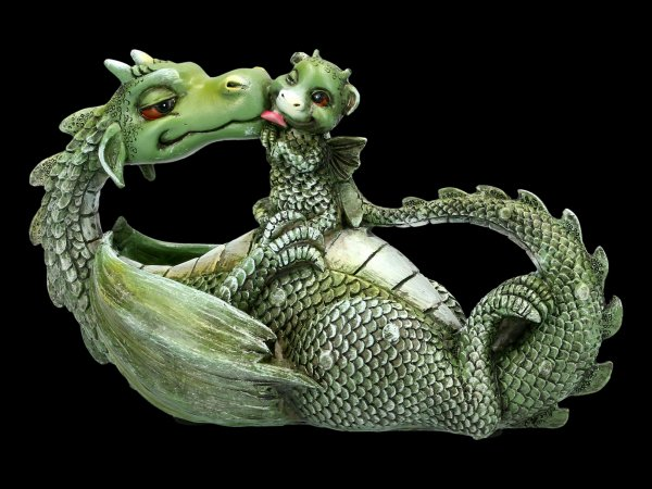 Dragon Figurine - Sweetest Moment - green