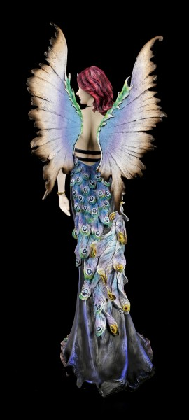 Große Elfen Figur - Avisa mit buntem Pfau