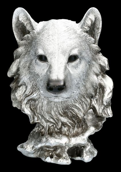Wolf Head - Antique Silver