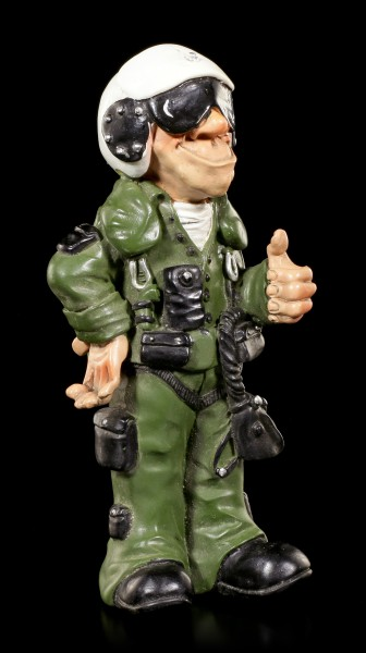 Jet Pilot Figurine - Thumbs Up - Funny Jobs