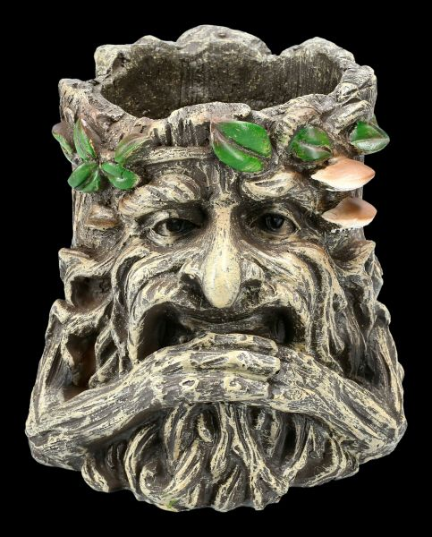 Flower Pot - Greenman holds his Beard