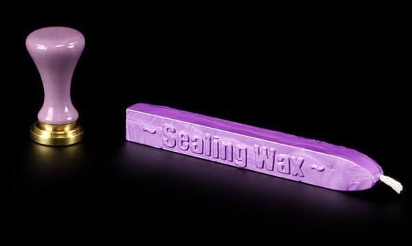 Wicca Siegel mit violettem Wachs