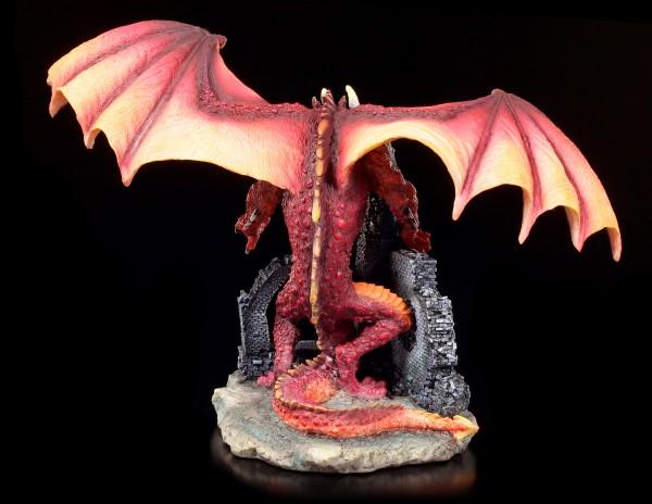 Drachen Figur - Red Furor auf Burgruine