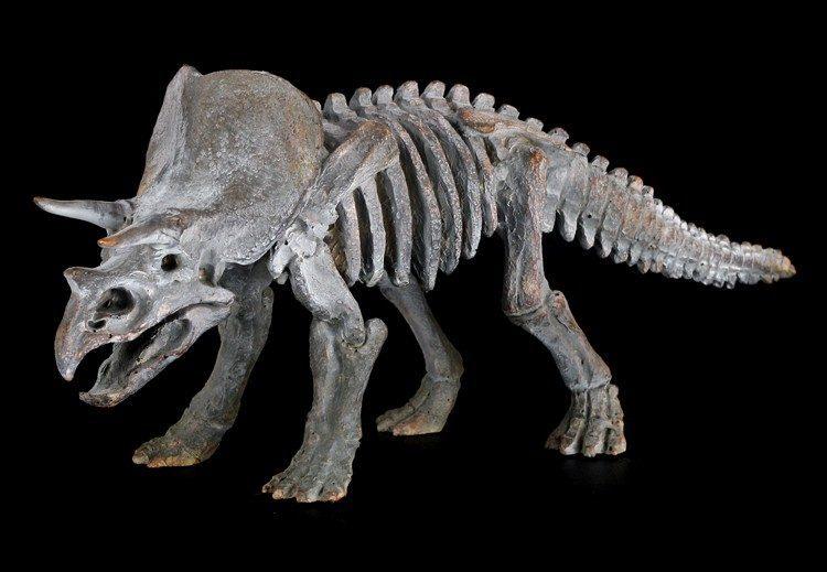 Dinosaur Figurine - Small Triceratops Skeleton