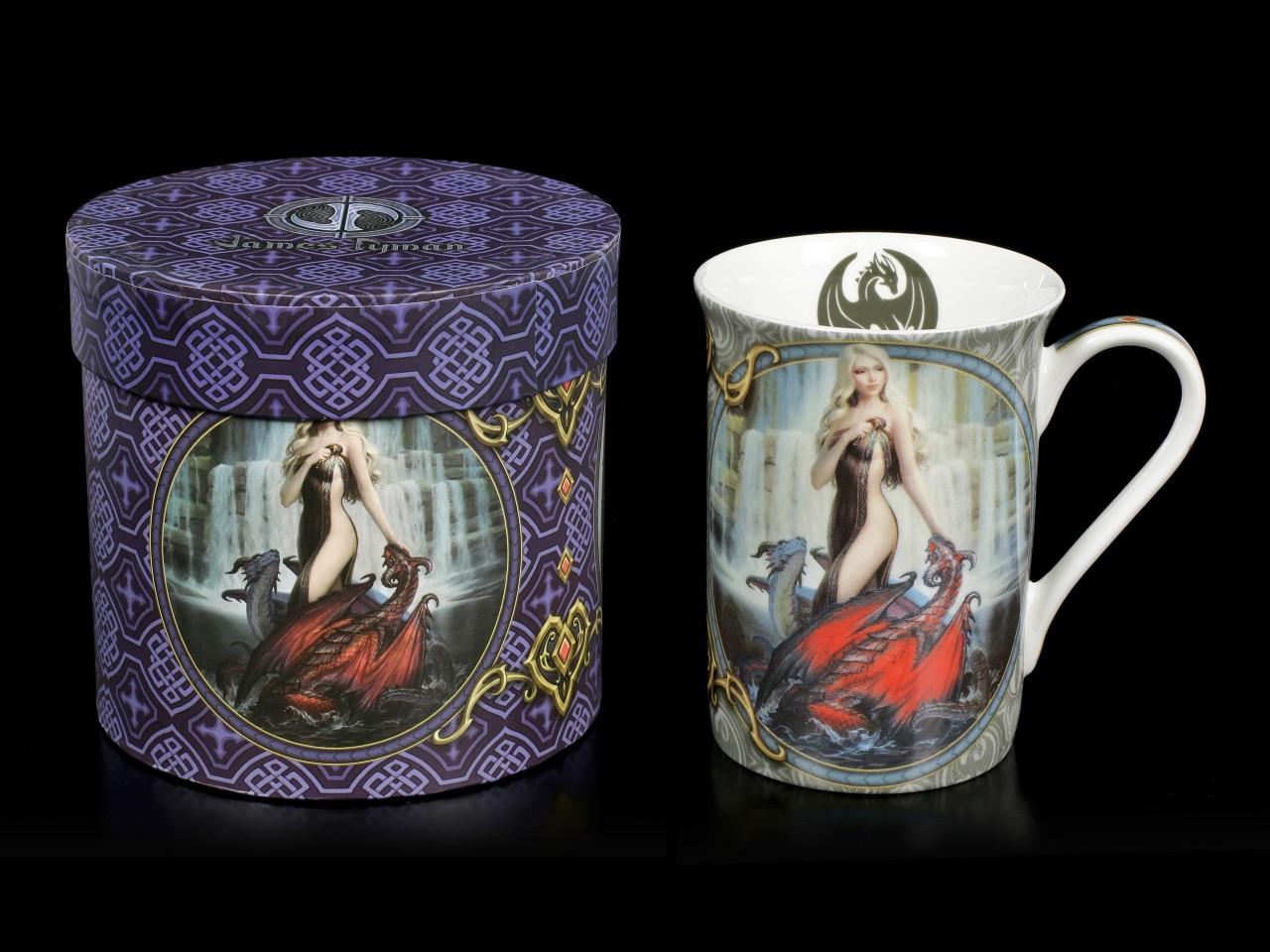 Porzellan Tasse mit Drachen - Dragon Bathers