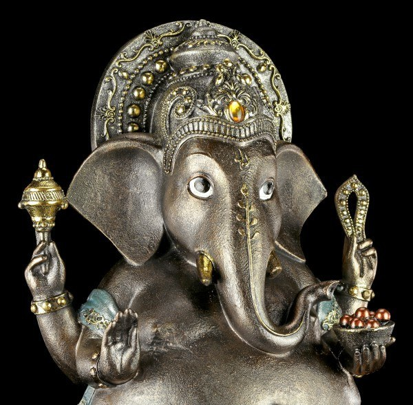 Ganesha Figur - Hindu Gottheit mit Schale