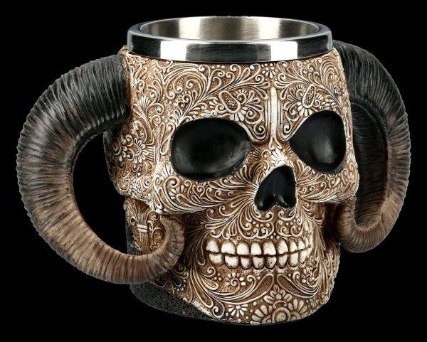 Skull Tankard - Horned Dead