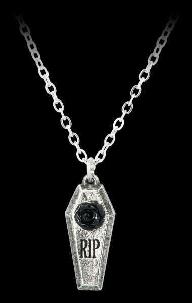 Alchemy Coffin Necklace - RIP Rose
