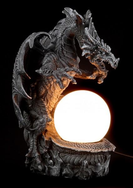 Drachenlampe - Drache mit Lichtkugel