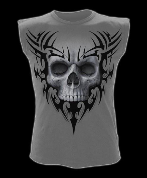 Ärmelloses Shirt - Totenkopf Solemn Skull