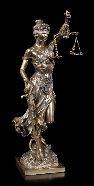 Justitia Figurine - Goddess of Justice - bronzed