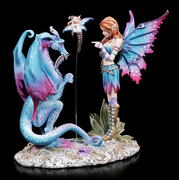 Elfen Figur mit Drache - Bad Dragon by Amy Brown