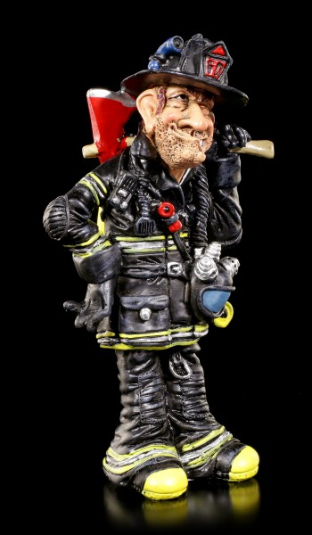 Fire Fighter Figurine with Axe - Funny Jobs