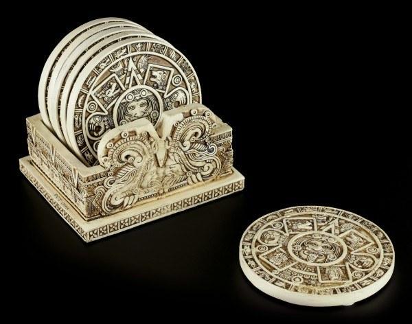 Azteken Untersetzer mit Halter