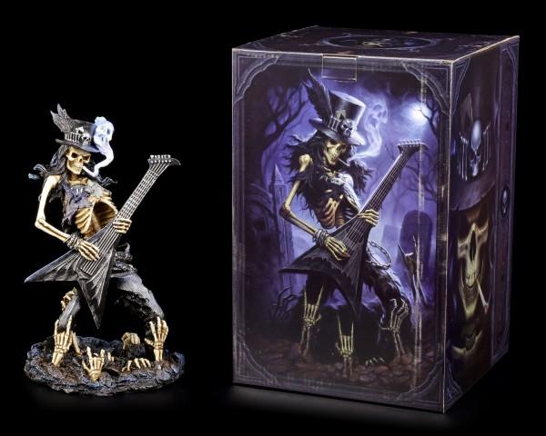 Skelett Figur Rocker mit Gitarre - Play Dead