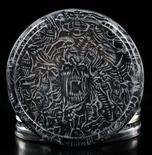 Gothic Untersetzer - Teufelsmaske - 6er Set