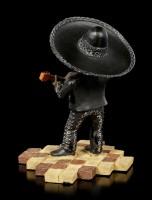 Skeleton Figurine - Mariachi Band Guitar