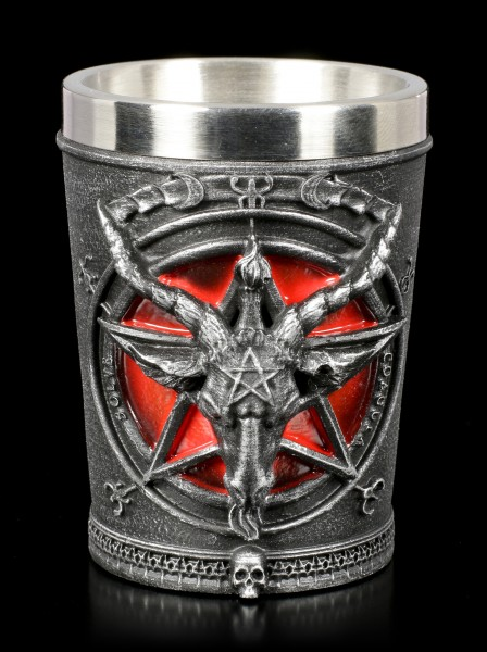 Shot Glass - Baphomet with Pentagram