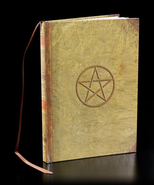 Hardcover Notizbuch mit Pentagramm - Magic