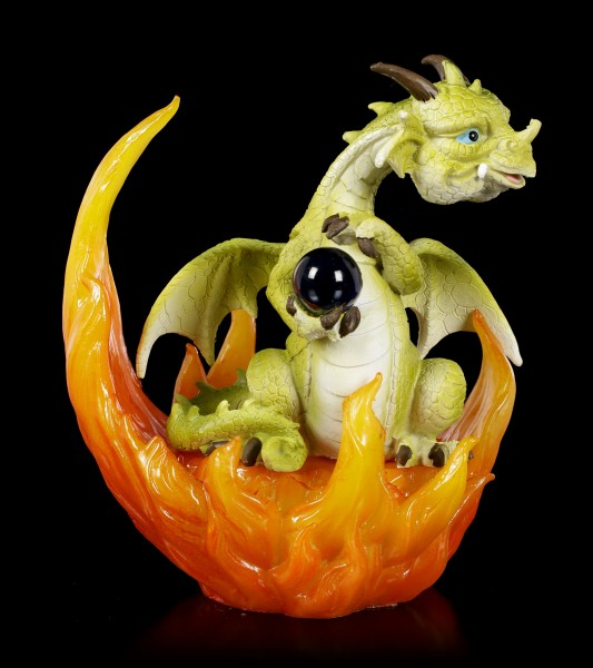 Drachen Figuren in Flammen LED - 3er Set