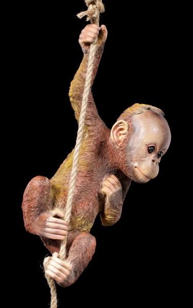 Garden Figurine - Baby Orang-Utan on Rope