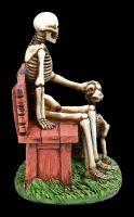 Skeleton Figurine with Dog - Love Never Dies