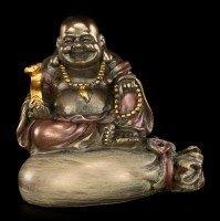 Happy Buddha Figurine - Sitting on Gold Sack