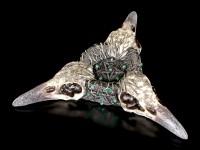 Tealight - Crystal Ball Holder - Trio of Ravens